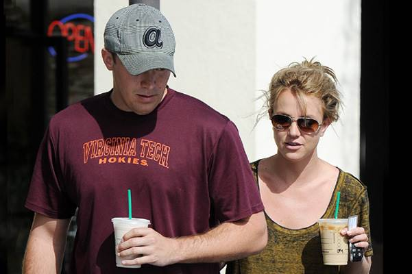 Britney Spears and boyfriend David Lucado went for some coffee at Starbucks in Calabasas