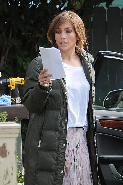"Jennifer Lopez seen filming her latest movie ""The Boy Next Door"" in Los Angeles, CA on Sunday 112413"