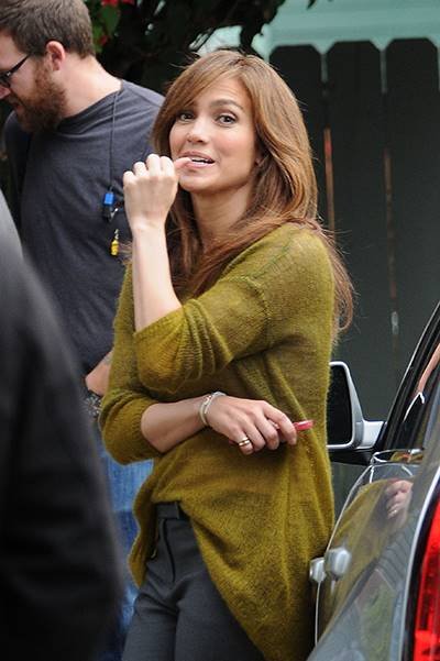 """Jennifer Lopez seen filming her latest movie """"The Boy Next Door"""" in Los Angeles, CA on Sunday 112413"""