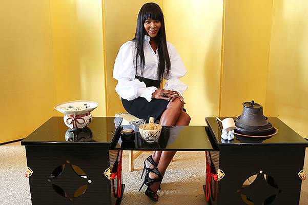 Naomi Campbell Attends Japanese Tea Ceremony In Sydney