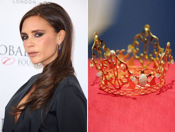 Victoria Beckham's Wedding Tiara Goes On Display At Bonhams