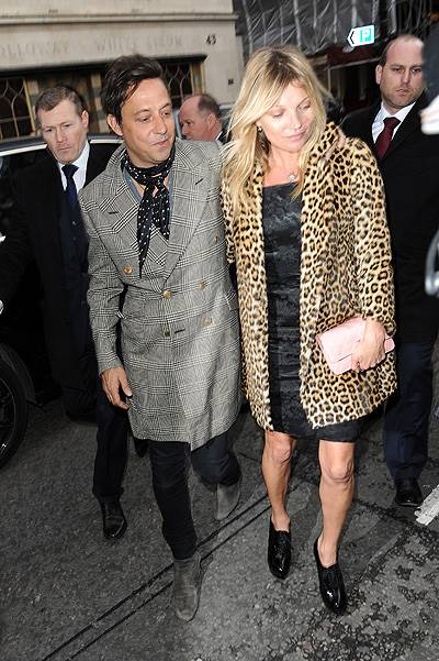 Kate Moss and Jamie Hince arrive at a restaurant for Kates 40th Birthday Featuring: Kate Moss and Jamie Hince Where: London, United Kingdom When: 16 Jan 2014 Credit: WENN.com