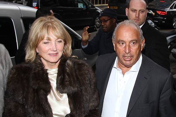 Kate Moss' 40th Birthday at 34 Restaurant - Arrivals Featuring: Sir Philip Green Where: London, United Kingdom When: 16 Jan 2014 Credit: WENN.com
