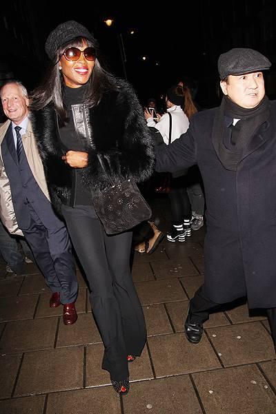 Naomi Campbell arrives fashionably late for Kate Moss' 40th birthday party Featuring: Naomi Campbell Where: London, United Kingdom When: 16 Jan 2014 Credit: WENN.com