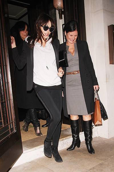 Kate Moss and friends leave 34 restaurant after celebrating her 40th birthday Where: London, United Kingdom When: 16 Jan 2014 Credit: WENN.com