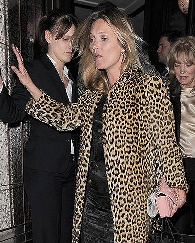 Kate Moss Celebrates Her 40th Birthday At 34 Restaurant In London
