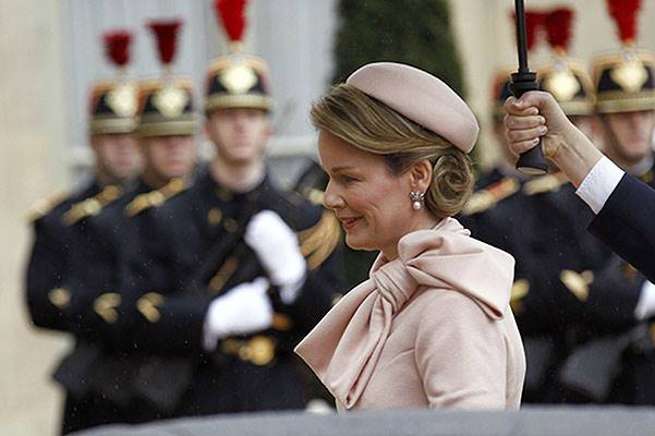 King Philippe of Belgium and Queen Mathilde Of Belgium On A One Day Official Visit In Paris