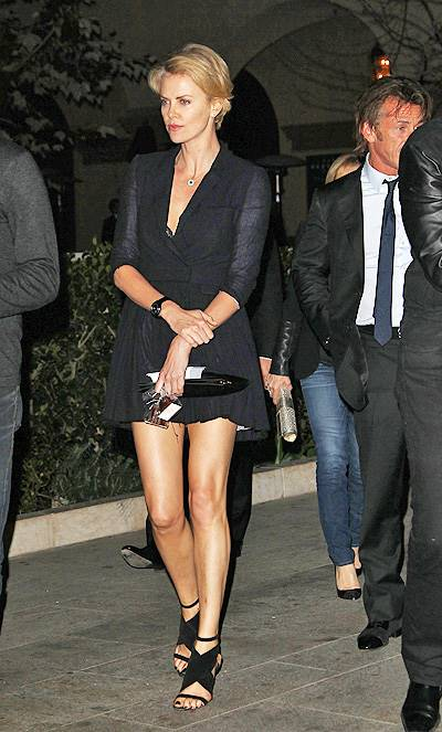 Charlize Theron and Sean Penn leaving a restaurant together after a charity dinner Featuring: Charlize Theron,Sean Penn Where: Beverly Hills, California, United States When: 12 Feb 2014 Credit: FayesVision/WENN.com
