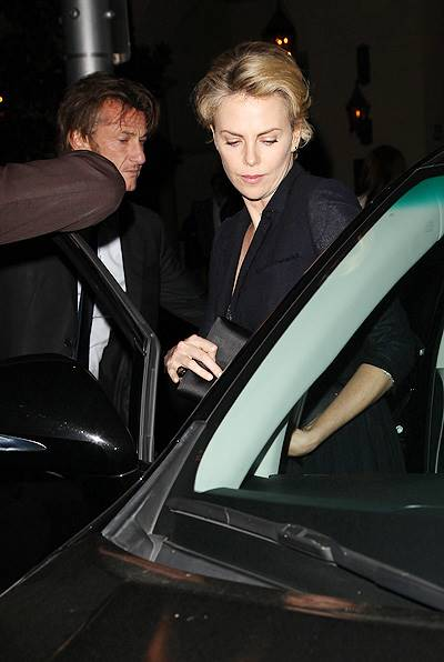 Charlize Theron and Sean Penn leaving a restaurant together after a charity dinner Featuring: Sean Penn,Charlize Theron Where: Beverly Hills, California, United States When: 12 Feb 2014 Credit: FayesVision/WENN.com