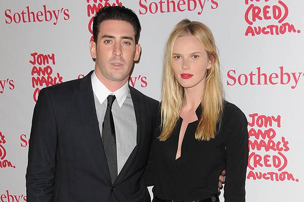 Jony And Marc's (RED) Auction - Red Carpet Arrivals at Sotheby's Featuring: Matt Harvey,Anne Vyalitsyna Where: Manhattan, New York, United States When: 24 Nov 2013 Credit: Ivan Nikolov/WENN.com