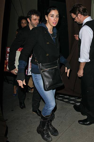 Sarah Silverman leaving Craig's Restaurant in West Hollywood