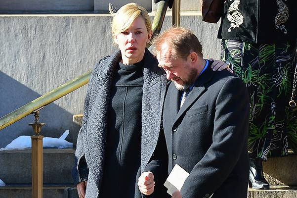 Philip Seymour Hoffman's family and Hollywood friends bid a sad farewell to the actor at New York funeral