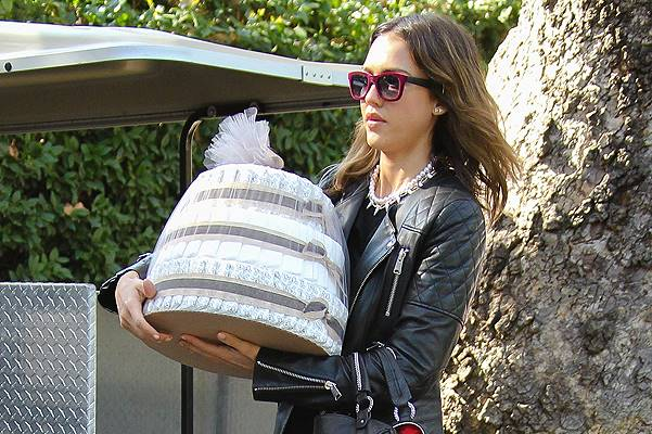 Jessica Alba looking fashionable as she goes to a party at Hotel Bel-Air Featuring: Jessica Alba Where: Los Angeles, California, United States When: 08 Feb 2014 Credit: WENN.com