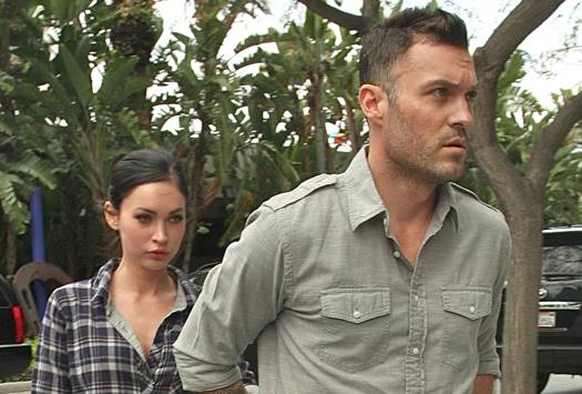 Megan Fox and Brian Austin Green go to the Lakers game in Los Angeles