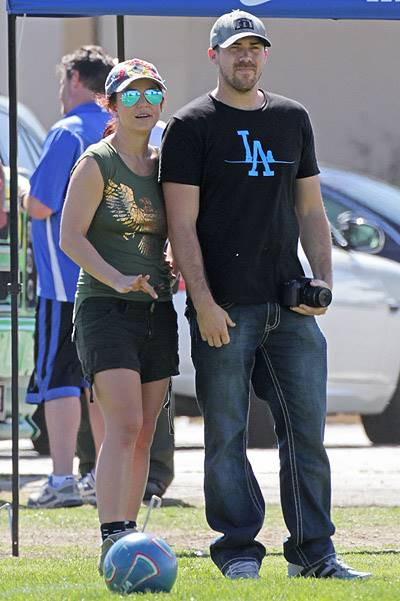 Britney Spears and David Lucado attend Jayden's soccer game in LA