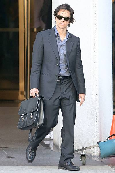 Jessica Lange and Mark Wahlberg filme 'The Gambler' in Beverly Hills