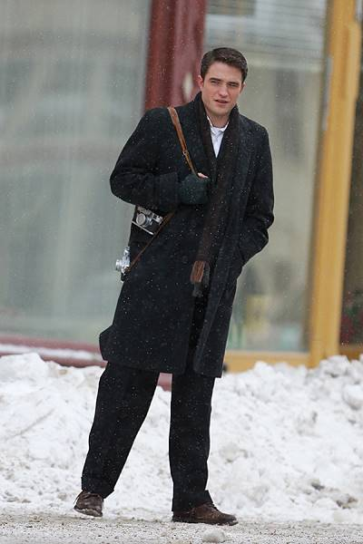 Robert Pattinson and Dane DeHaan film 'Life' in Canada