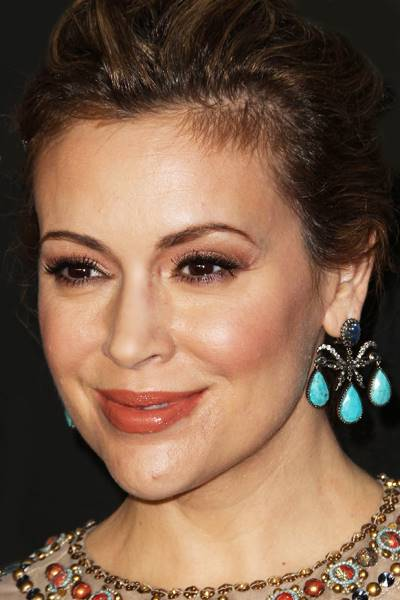 Alyssa Milano arrives at the Audi Golden Globe Awards 2014 Cocktail Party