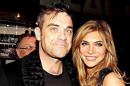 Robbie Williams and Ayda Field arriving at the Pantos On Strike in Manchester. UK