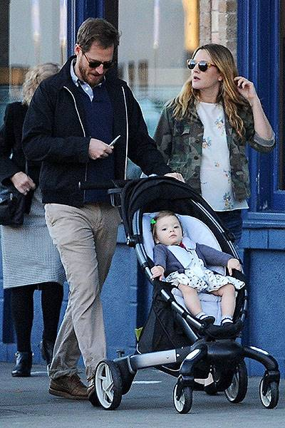 EXCLUSIVE: Pregnant Drew Barrymore has a family day out with adorable daughter Olive and husband Will Kopelman, LA