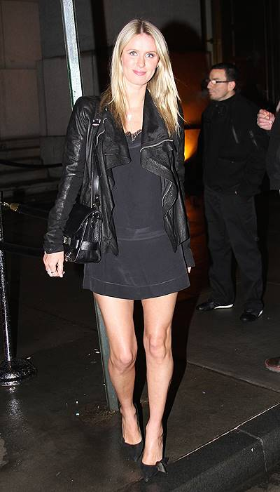 Nicky Hilton seen at Pharrell Williams birthday party at Cipriani