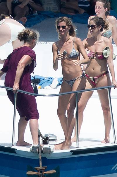 EXCLUSIVE: Gisele Bundchen enjoys a day of water sports while holidaying in her native Brazil
