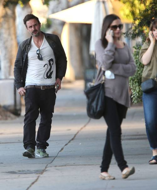 Exclusive... David Arquette & Christina McLarty Out Shopping In West Hollywood