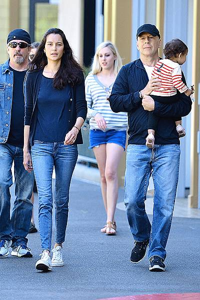 EXCLUSIVE: Bruce Willis enjoys a second day at Disneyland with wife Emma Heming and daughter Mabel Ray