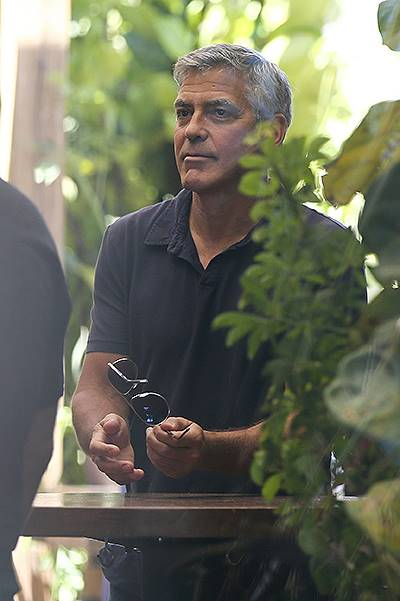 George Clooney and Amal Alamuddin have an engagement party in Malibu