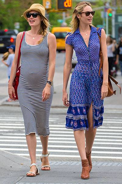Victoria's Secret Angels Candice Swanepoel and Doutzen Kroes share a laugh in NYC