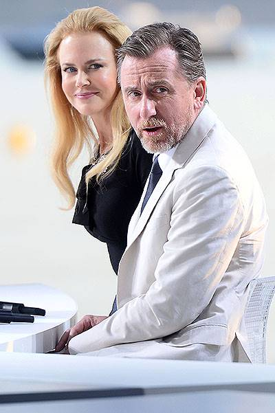Nicole Kidman and Tim Roth were the guests 'Le grand journal' in Cannes, France