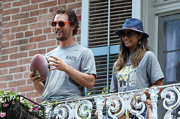Matthew McConaughey takes part in the 'Amazing Race' in New Orleans