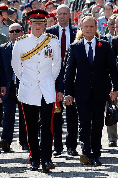 Prince Harry Visits Italy