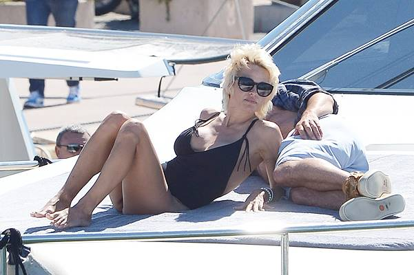 Apart from 67th Cannes Film Festival - Pamela Anderson and Rick Salomon are seen in Cannes