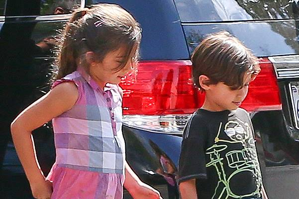 *EXCLUSIVE* Maximilian David Muniz has a playdate with a mystery girl
