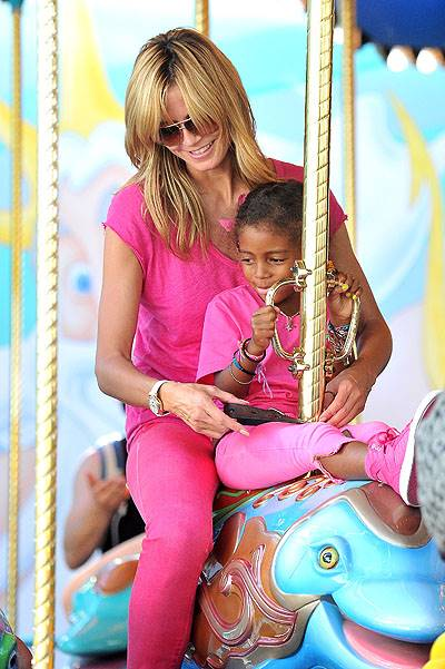 Heidi Klum and Seal make time together for their kids as they spend the day at Disneyland