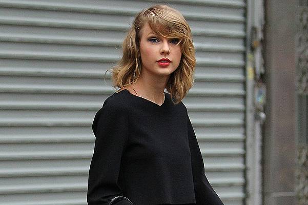 Taylor Swift leaves the gym on Friday afternoon in NYC