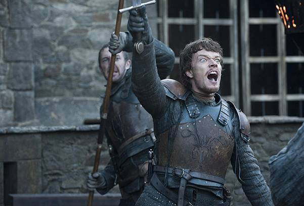 """Game of Thrones (HBO) Season 2 Episode 10 """"Valar Morghulis"""" Air Date: June 3, 2012 Shown: Alfie Allen (as Theon) Where: Lokrum Island, Croatia When: 20 May 2013 Credit: WENN.com **This is a PR photo. WENN does not claim any Copyright or License in the"""