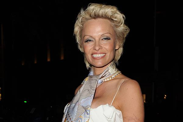 Pamela Anderson arrives at the Pamela Anderson Foundation Cocktail Party in Cannes