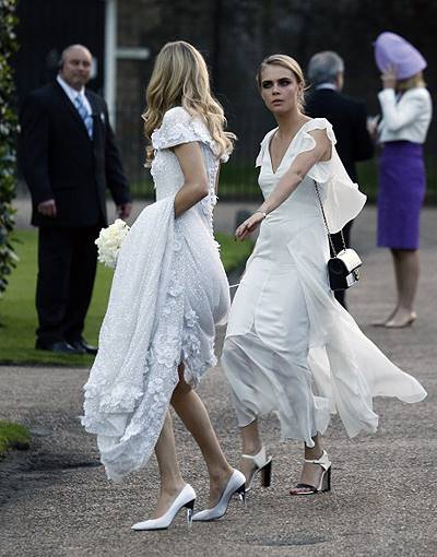 Celebrity Sightings At The Wedding Of Poppy Delevingne And James Cook In London - May 16, 2014