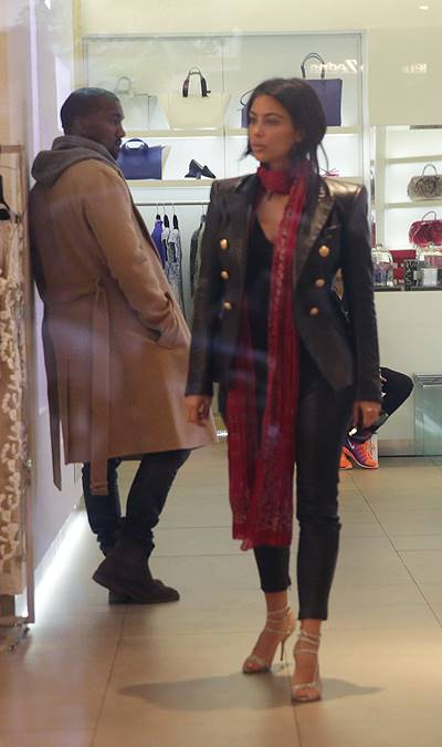Kim Kardashian and Kanye West shopping at a luxury boutique in Prague Featuring: Kim Kardashian,Kanye West Where: Prague, Czech Republic When: 30 May 2014 Credit: WENN.com **Not available for publication in Czech Republic and Slovakia**