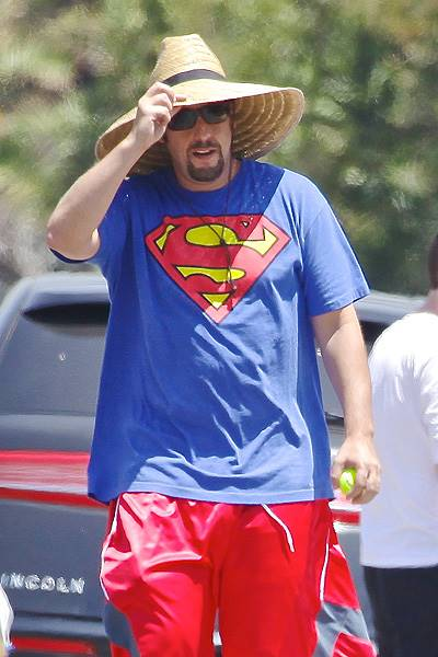 Superdad Adam Sandler sells 'Classified Waste' with his girls
