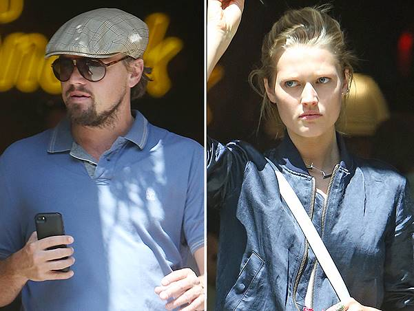 EXCLUSIVE: Leonardo DiCaprio and model girlfriend Anne Vyalitsyna go shopping at Will Leather Goods in SoHo, New York City