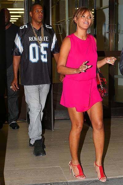 Jay-Z and Beyonce are all smiles when out and about in NYC