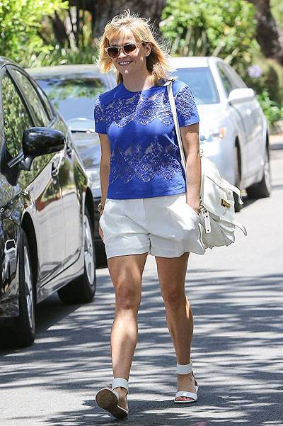 Reese Witherspoon takes family to a bithday party