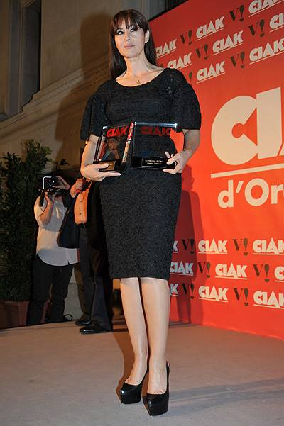 Monica Bellucci at the Ciak d'Oro 2014 Awards Featuring: Monica Bellucci Where: Rome, Italy When: 03 Jun 2014 Credit: IPA/WENN.com **Only Available for Publication in the UK, USA, Germany, Austria, Switzerland**