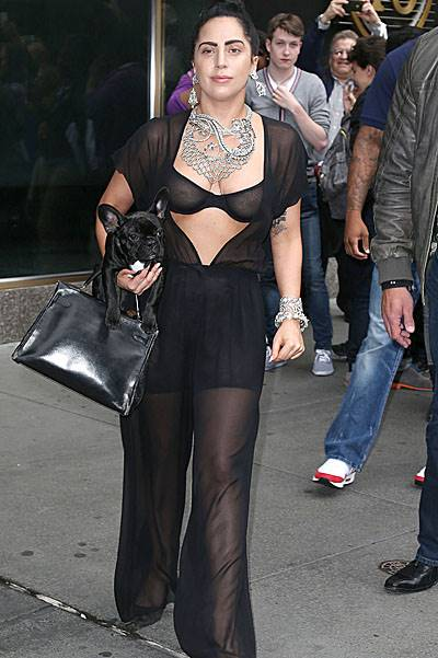 Lady Gaga leaving her hotel in New York City