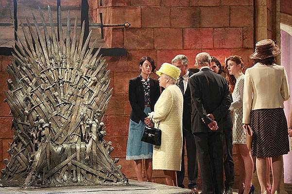 Queen And Prince Philip Visit Game Of Thrones Film Set In Belfast