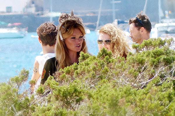 UK top model Kate Moss, during a shoot in Ibiza