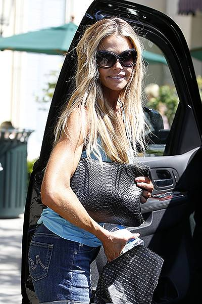 Denise Richards picks up beauty products at The Commons in Calabasas, CA